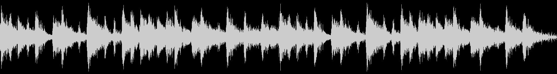 スクラッチ音とピアノのサウンドロゴの未再生の波形