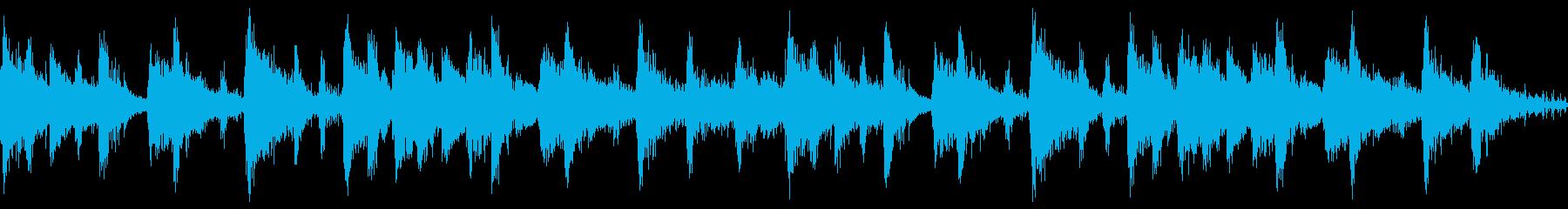 スクラッチ音とピアノのサウンドロゴの再生済みの波形