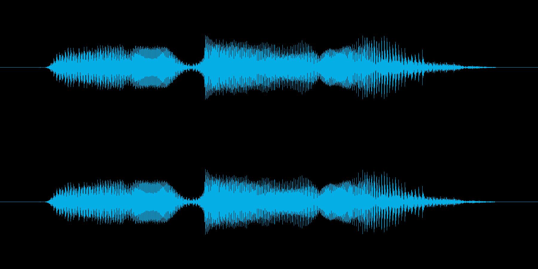 なんでやねんの再生済みの波形