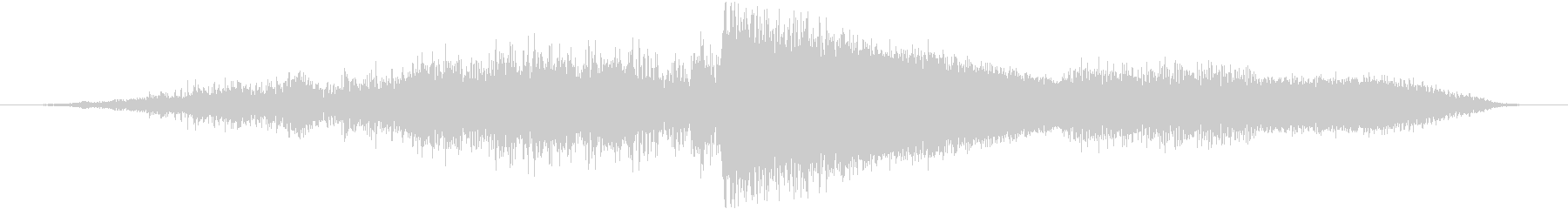 重い着信プラズマバースト爆発の未再生の波形