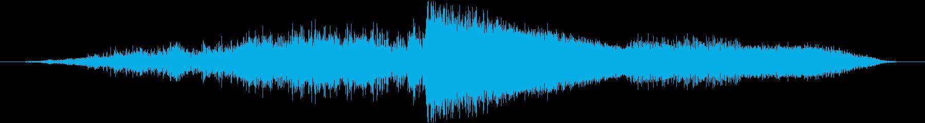 重い着信プラズマバースト爆発の再生済みの波形