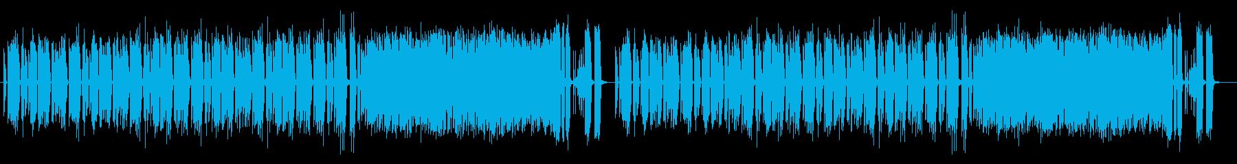 トロピカルな雰囲気のお洒落なBGMの再生済みの波形