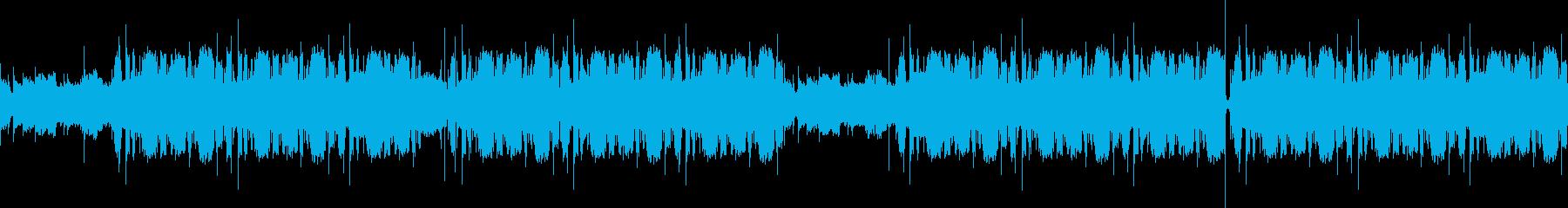 落ち着いた環境音を使用したBGMの再生済みの波形