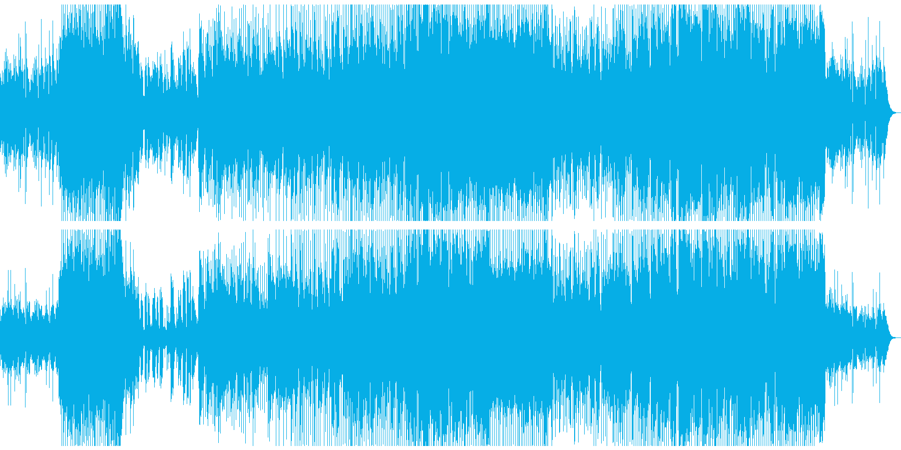 Dramatic and moving ballad's reproduced waveform
