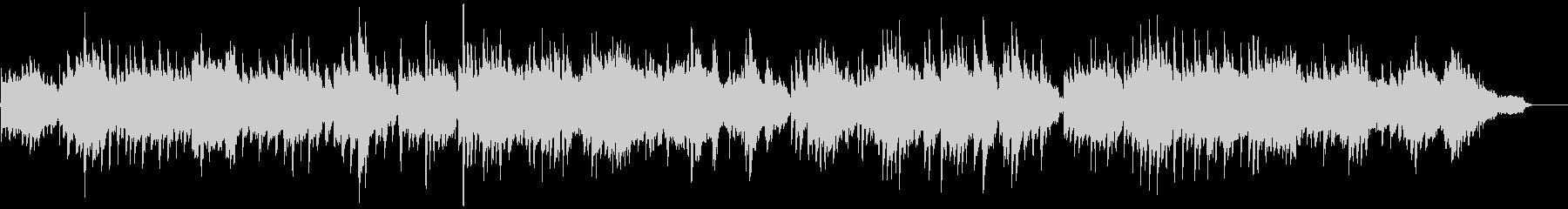 フルートとピアノのシンプルなバラードの未再生の波形