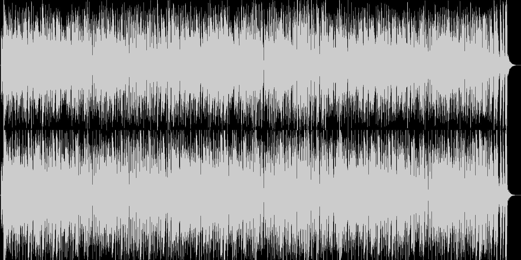 お洒落なジャズピアノトリオ9アップテンポの未再生の波形