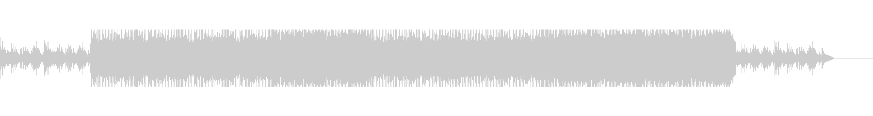 切なくも儚いピアノがメインのBGMの未再生の波形