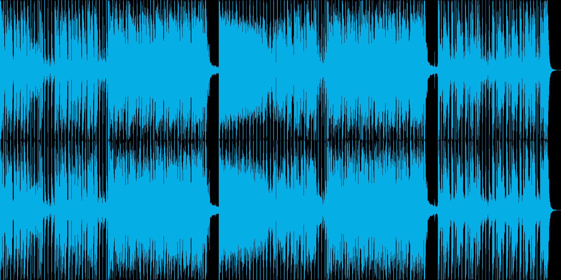 60年代風シンセとドラムのロックの再生済みの波形