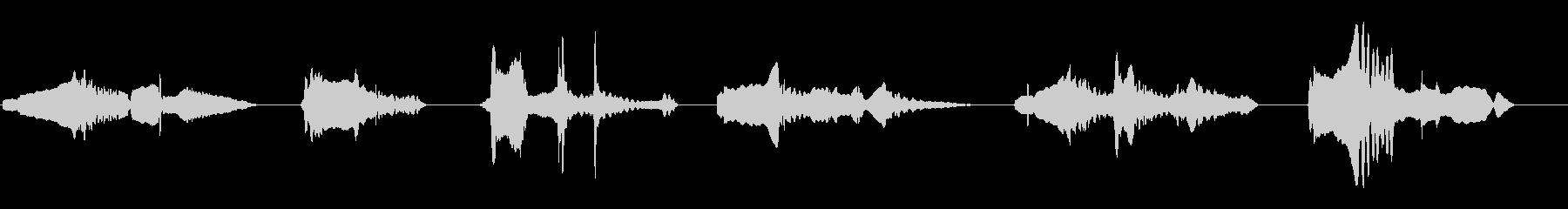 尺八の独奏 生演奏 和風のシーンなど 6の未再生の波形