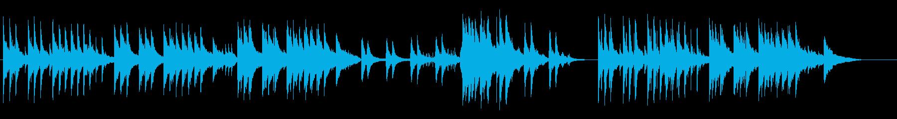 センチメンタルなピアノ+ダルシマーの再生済みの波形