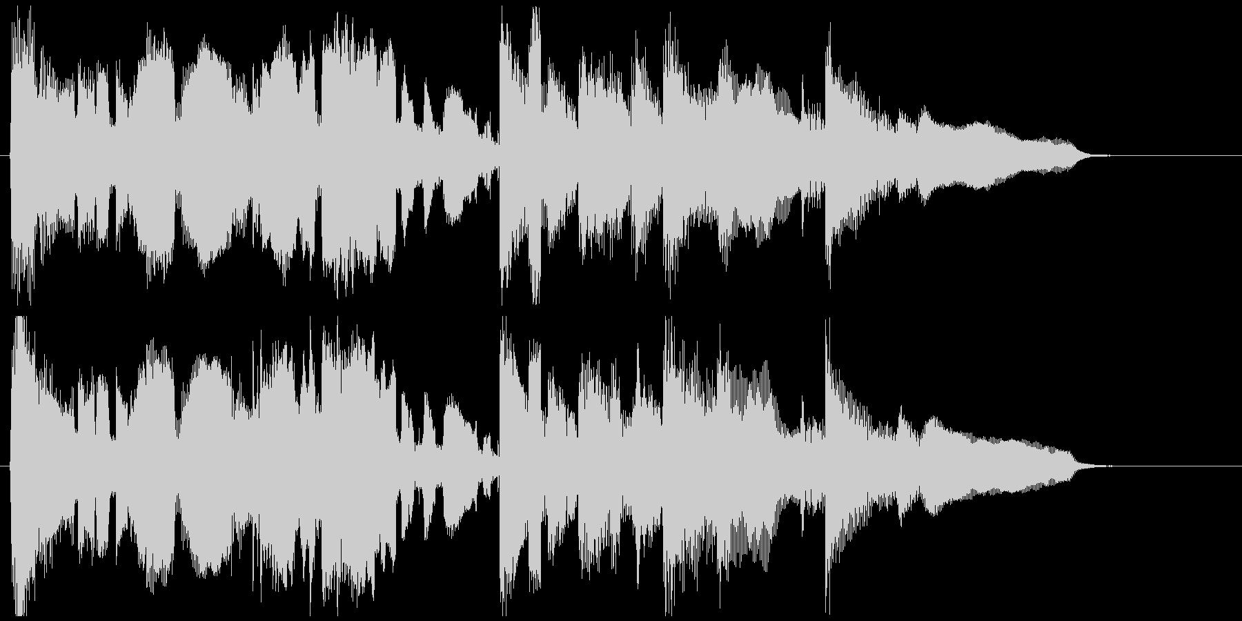 エピローグ的なサックスバラードのジングルの未再生の波形