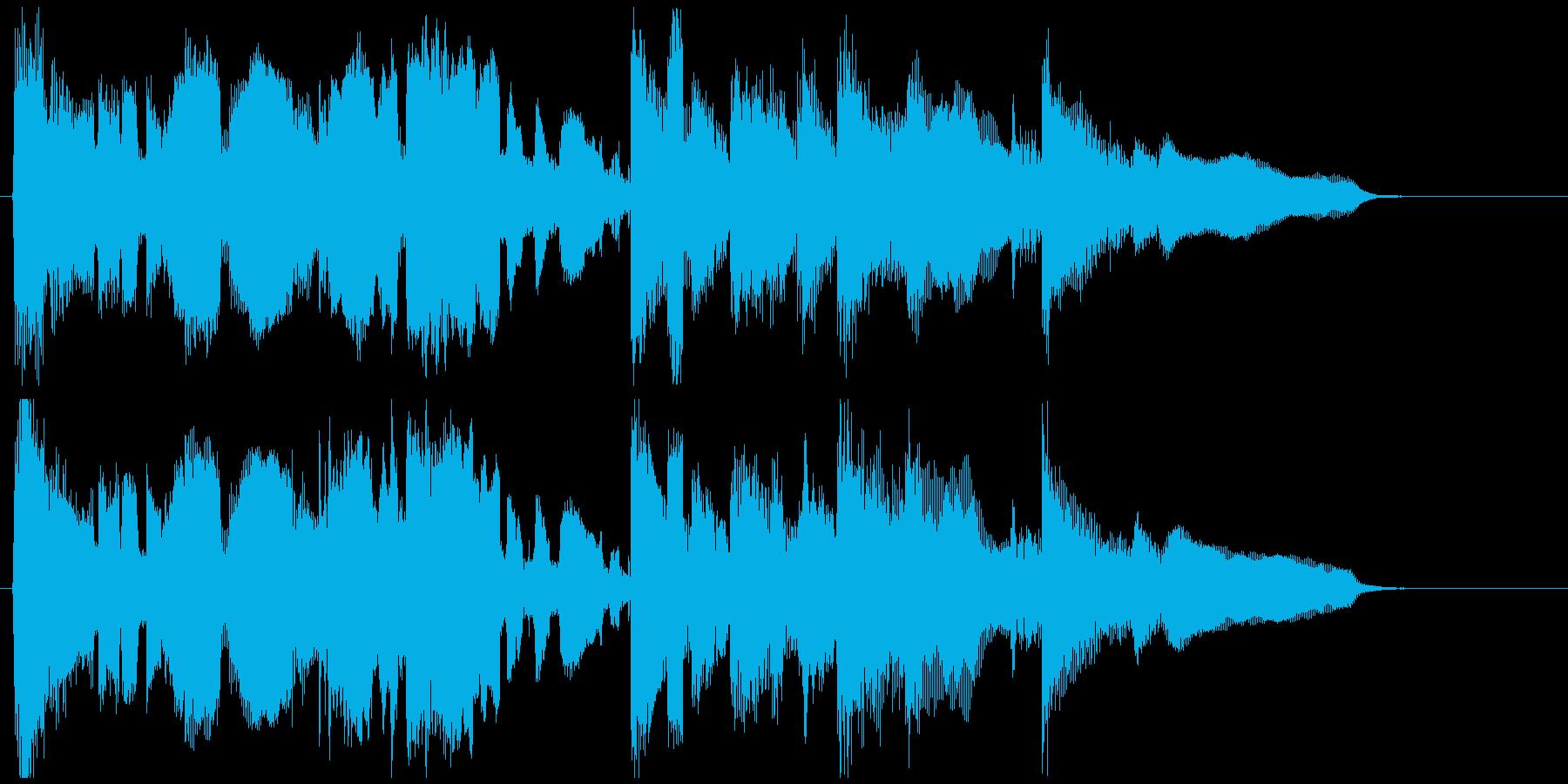 エピローグ的なサックスバラードのジングルの再生済みの波形