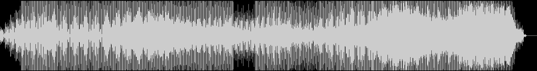 ゆったりとしたアンビエントテクノの未再生の波形