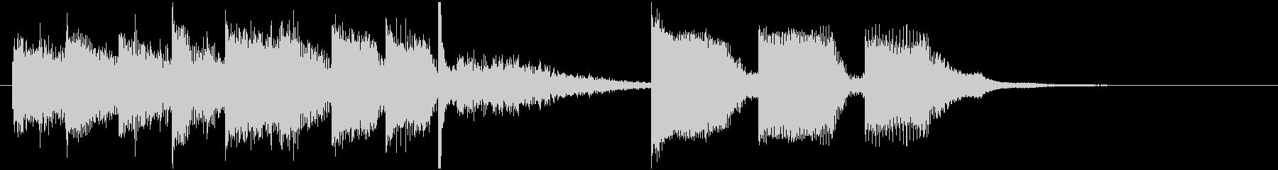 シンセ中心のコミカル曲_ジングルの未再生の波形