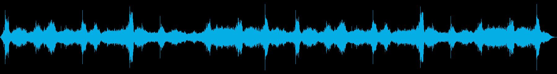 [生録音]海、波の音02(Lo-fi版)の再生済みの波形