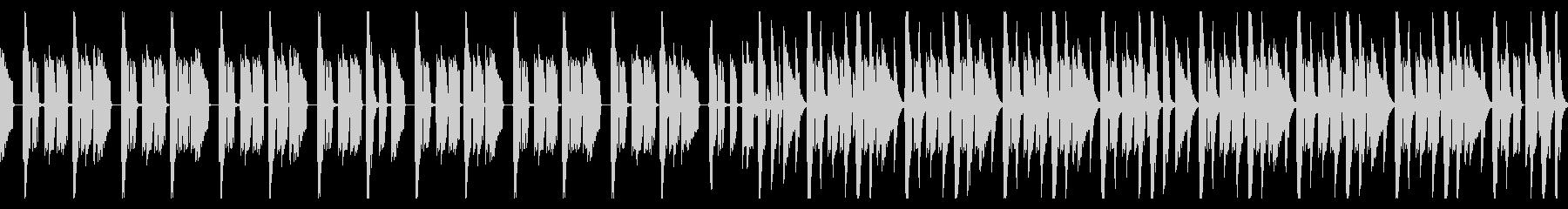 ドラムとベースのシンプルなBGMの未再生の波形