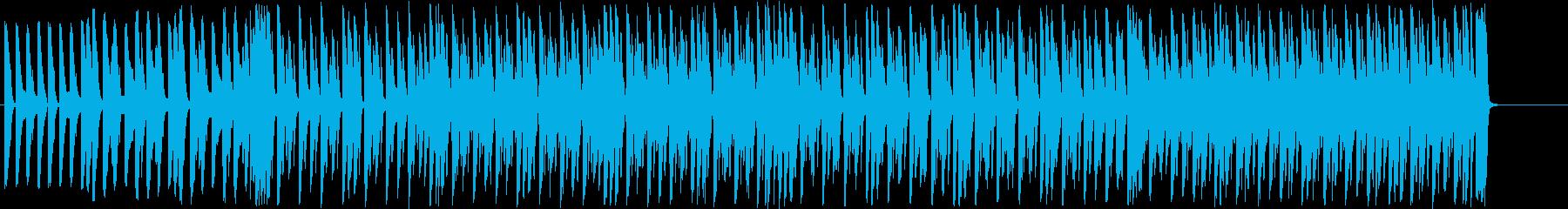 お洒落で勢いのあるアップテンポな音楽の再生済みの波形