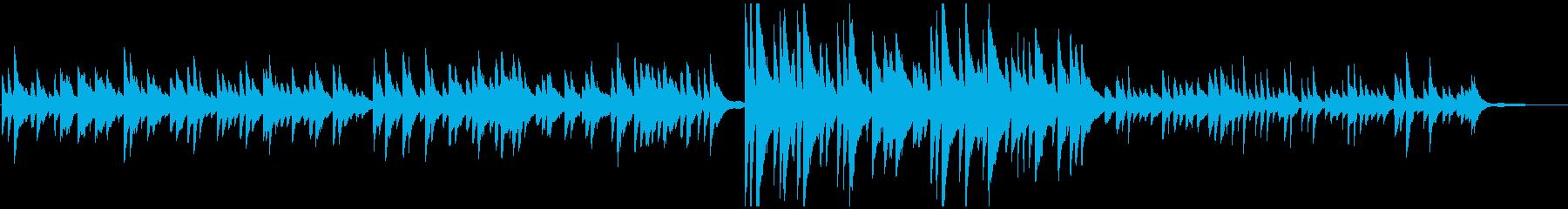悲しく切ないピアノソロの再生済みの波形