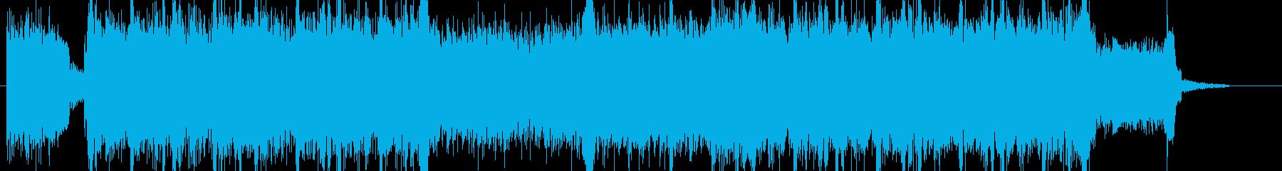 緊迫感と切迫感を表現したインスト曲の再生済みの波形
