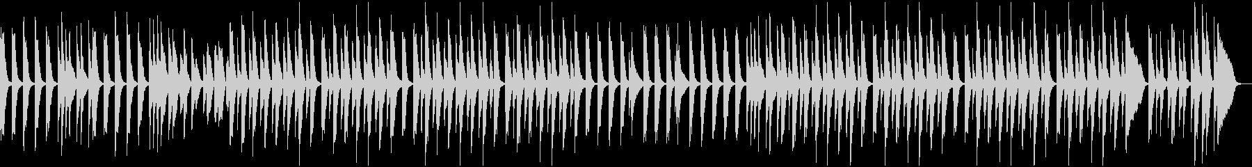 子供が飛び跳ねるようなピアノ曲の未再生の波形