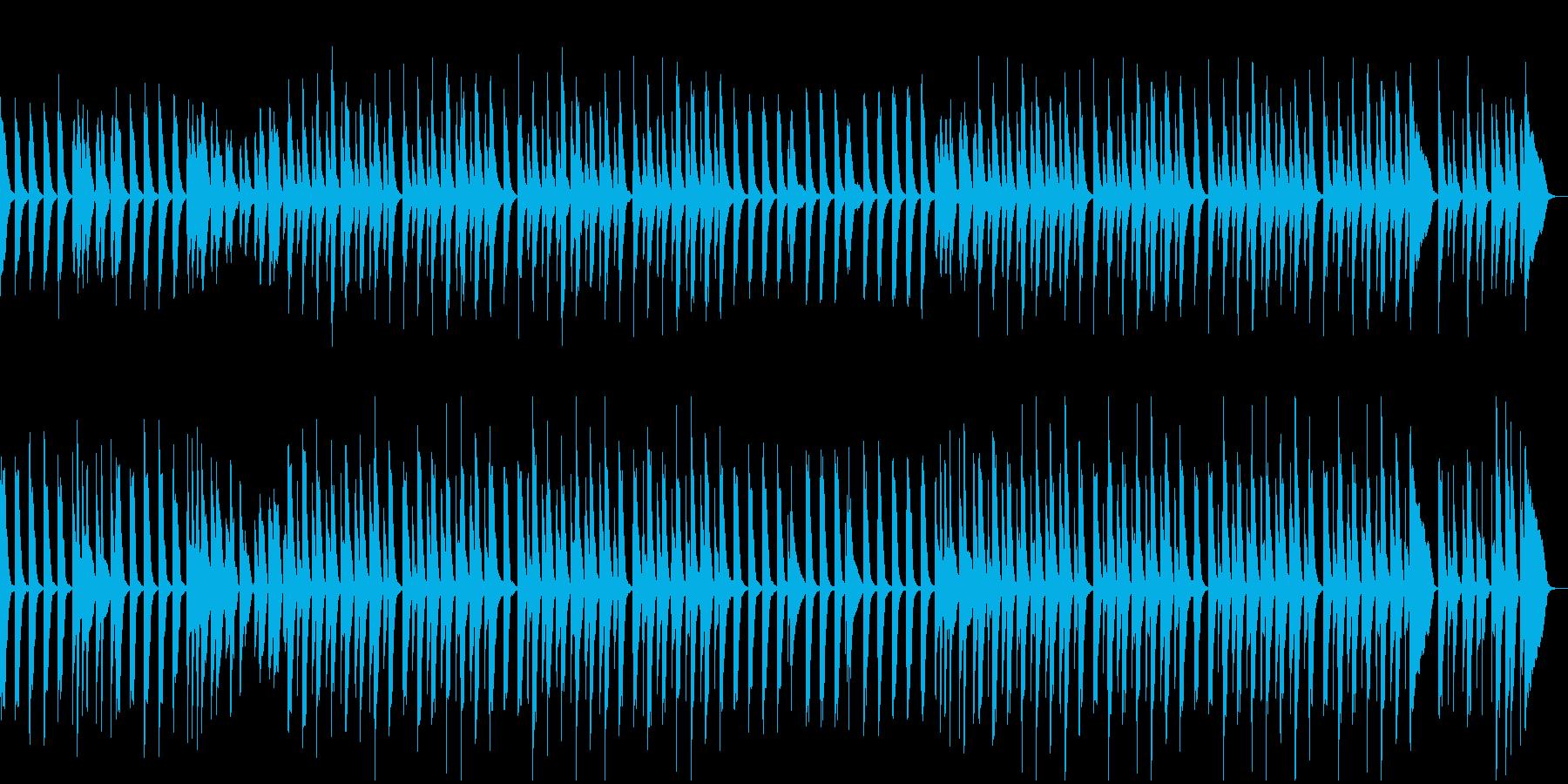 子供が飛び跳ねるようなピアノ曲の再生済みの波形