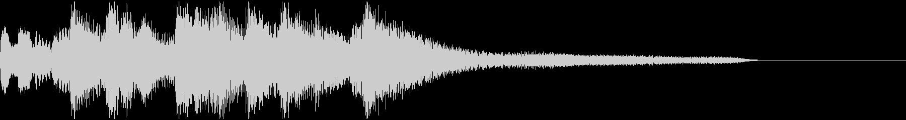 ピアノの旋律が切ないジングルの未再生の波形