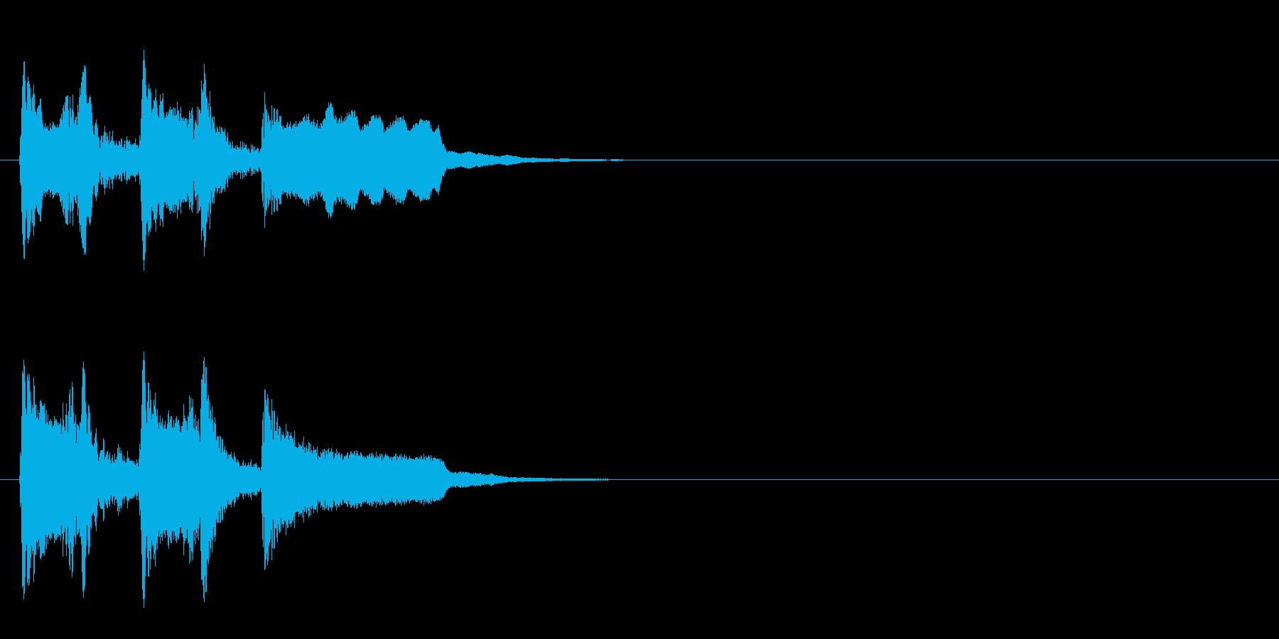 ジングル/SE(料理の実験おやおや?風)の再生済みの波形