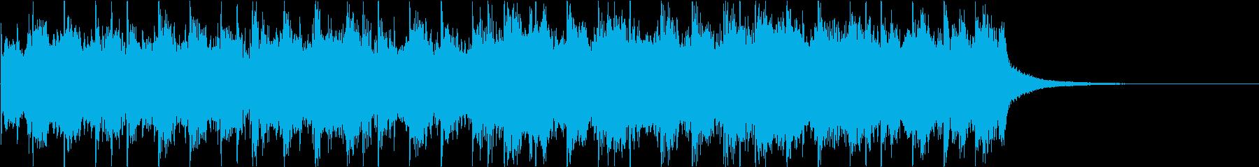 クラシック_01にリズムを入れていますの再生済みの波形