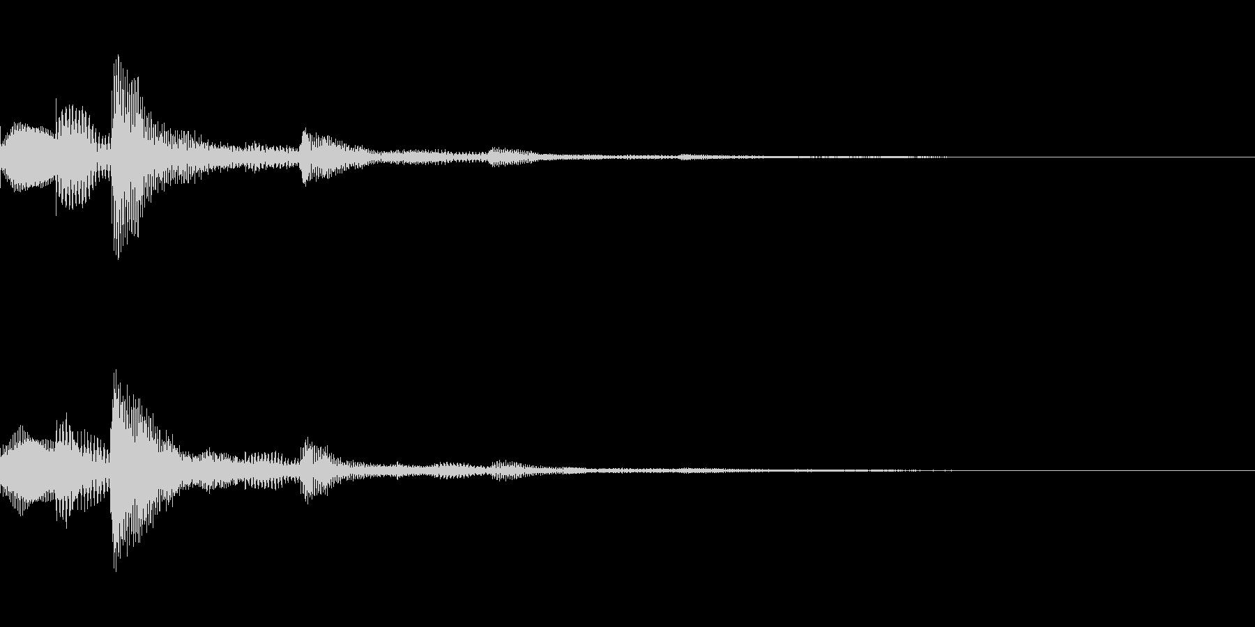 選択・決定音・シンセの未再生の波形