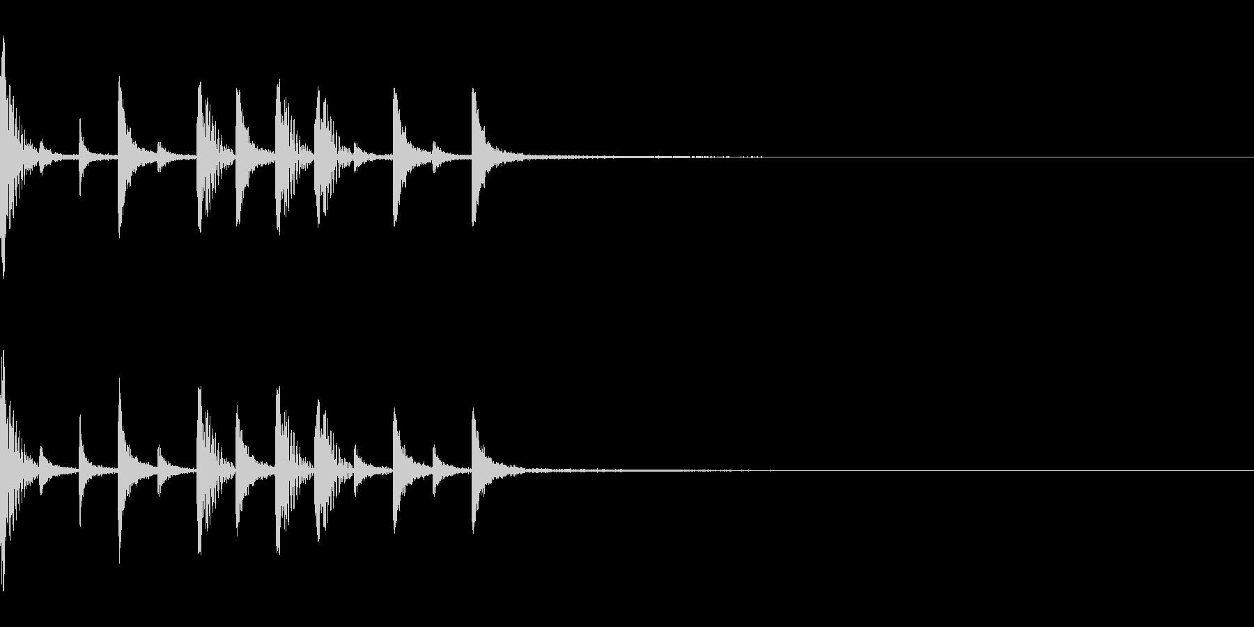 スローな8ビートドラム オープニングなどの未再生の波形