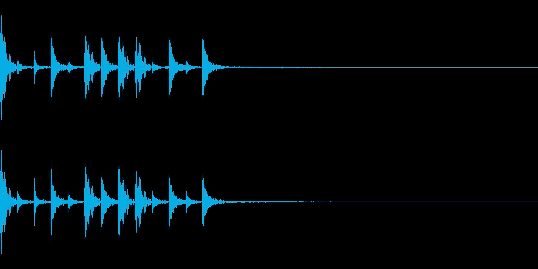 スローな8ビートドラム オープニングなどの再生済みの波形