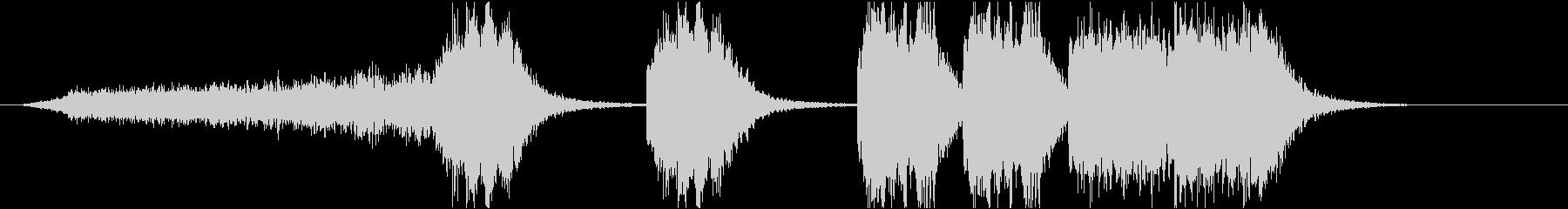 ホラー、サスペンスの未再生の波形