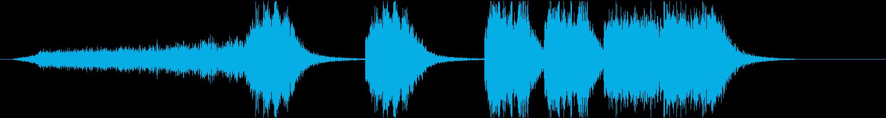 ホラー、サスペンスの再生済みの波形