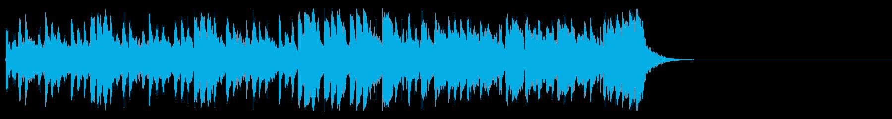 活気あふれるポップ(イントロ)の再生済みの波形