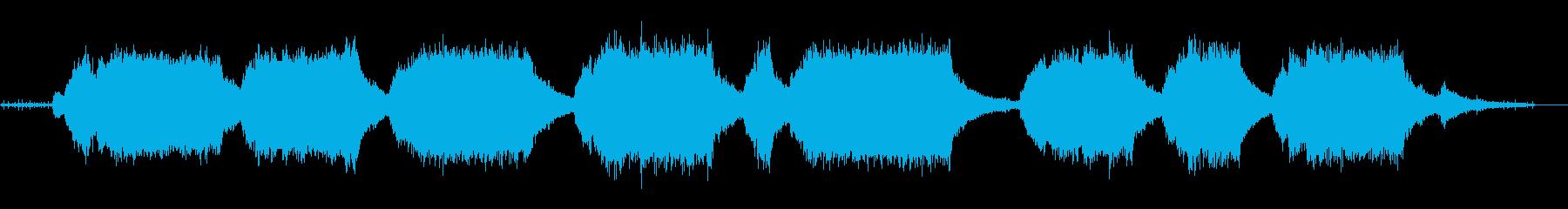 チェーンソー-回転(長い回転)とオフの再生済みの波形