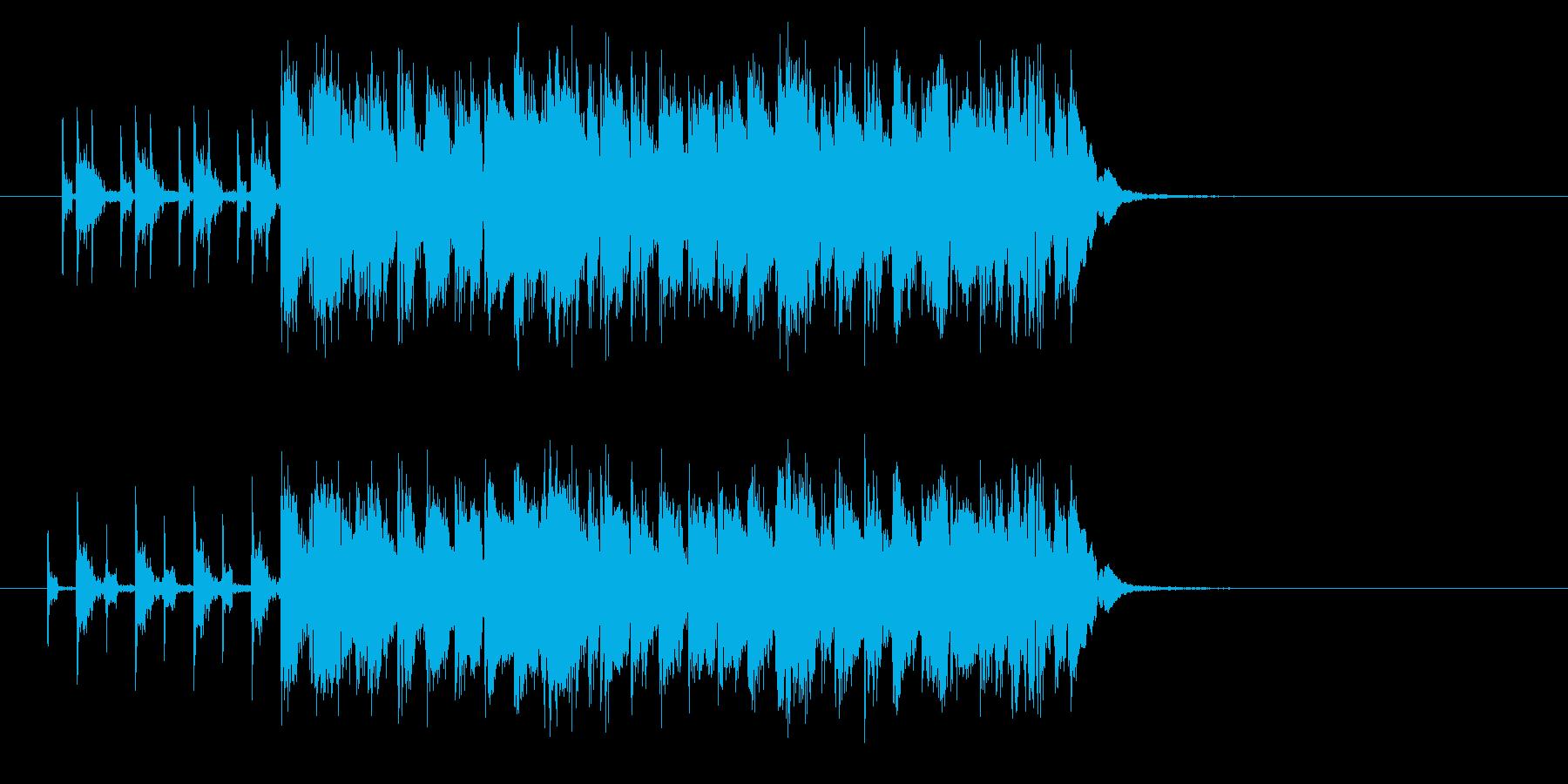 スピーディーでコミカルなポップジングルの再生済みの波形