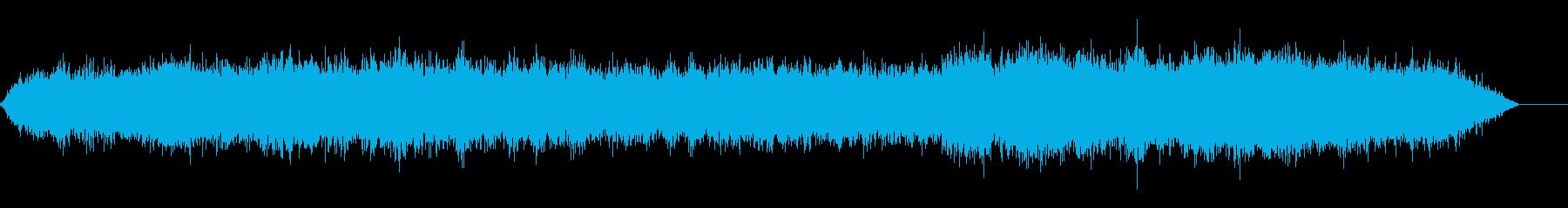 地下鉄、電車の音(車内にて録音)の再生済みの波形