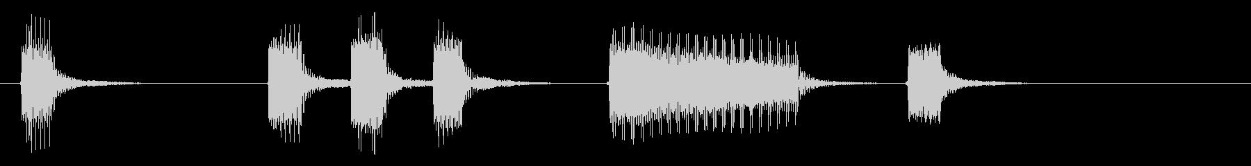 レトロゲームを思わせるサウンドの未再生の波形
