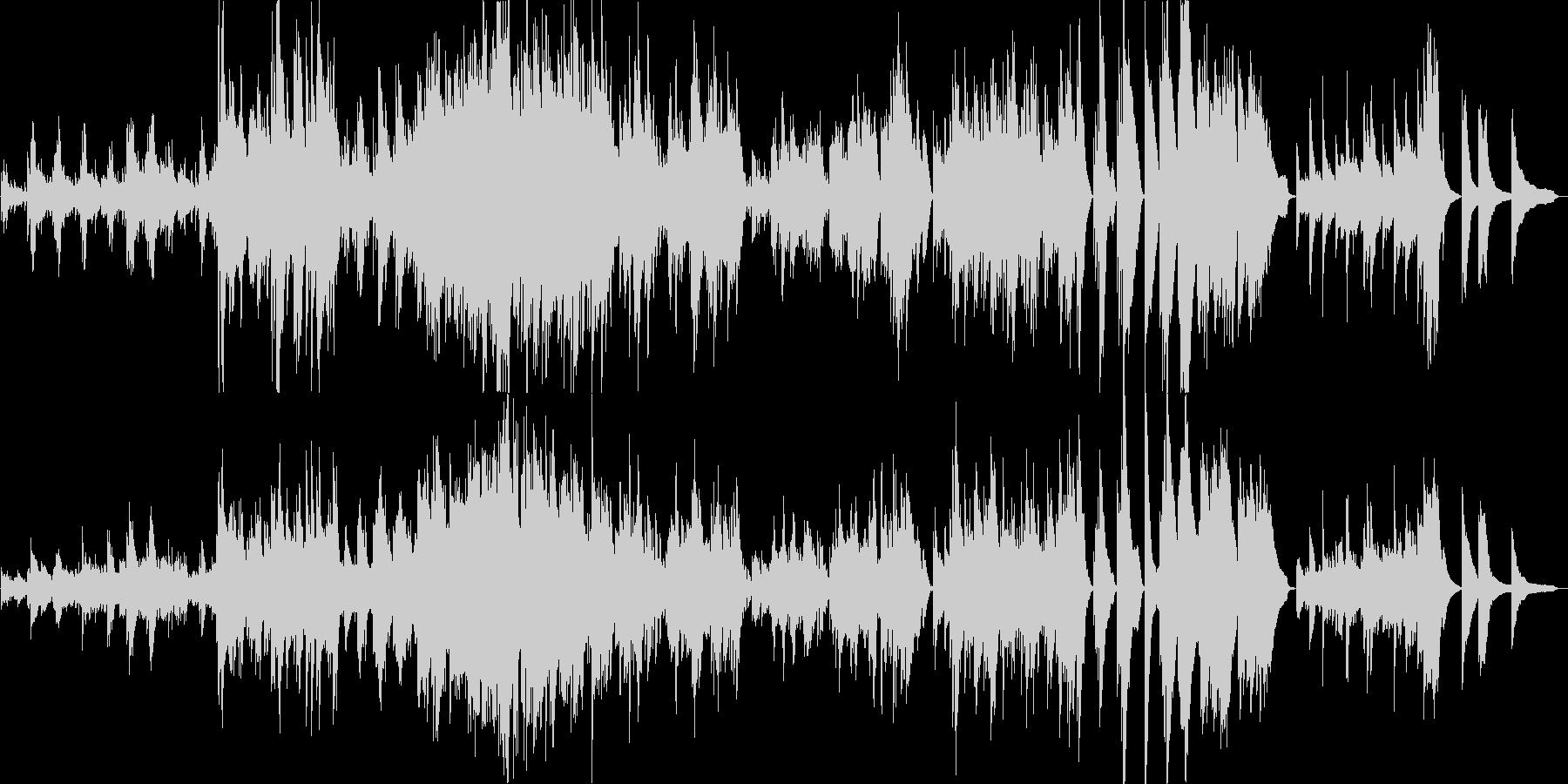 風と清空のピアノバラードの未再生の波形