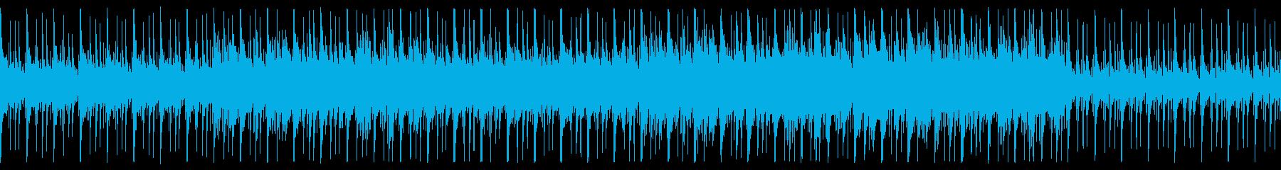 和×JAZZのゆったりループBGMの再生済みの波形
