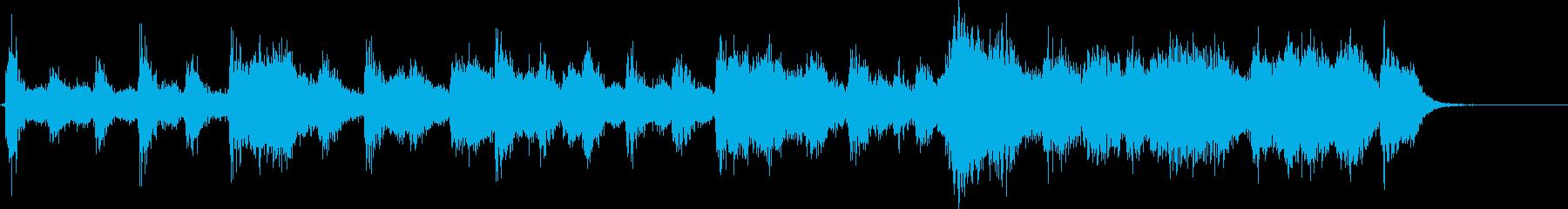 恐怖の空間音楽の再生済みの波形