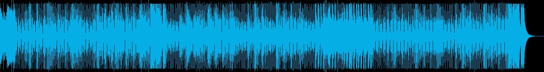 アップテンポでコミカルな和風曲の再生済みの波形