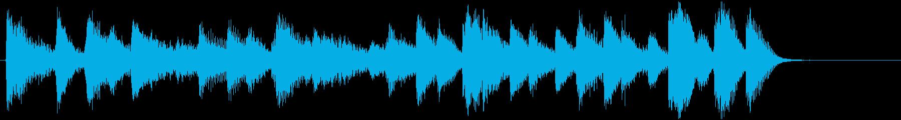 ブルース、ジャズ調ほのぼのジングル 8秒の再生済みの波形