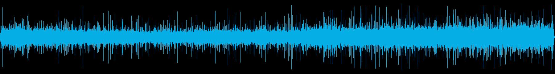 雨と遠くの工事現場の音 1の再生済みの波形