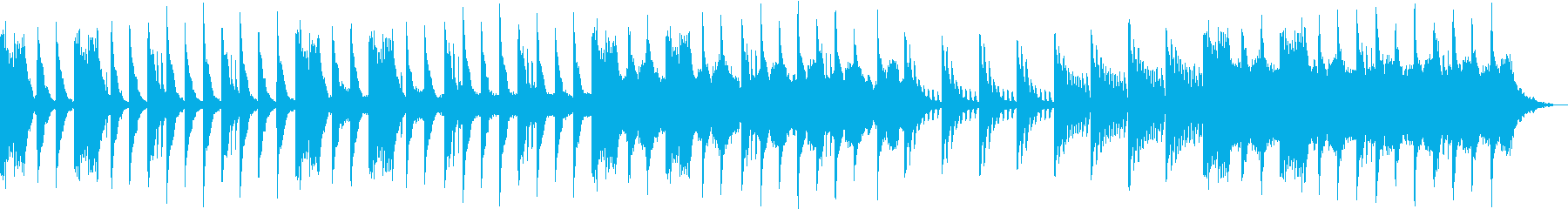 幻想的なピアノとストリングスの再生済みの波形