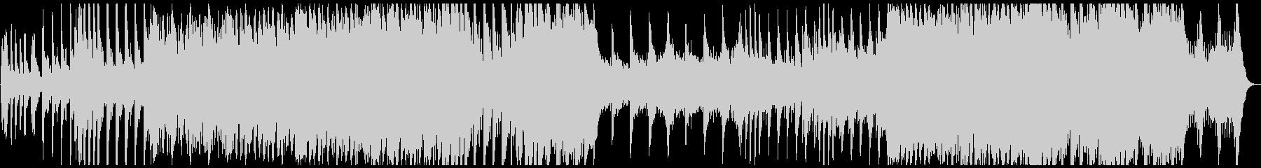 ハローウィン用のホラー曲の未再生の波形