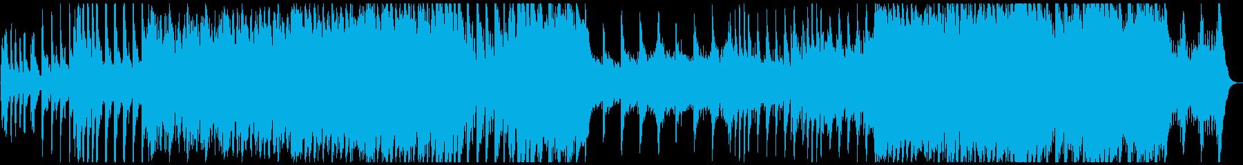ハローウィン用のホラー曲の再生済みの波形
