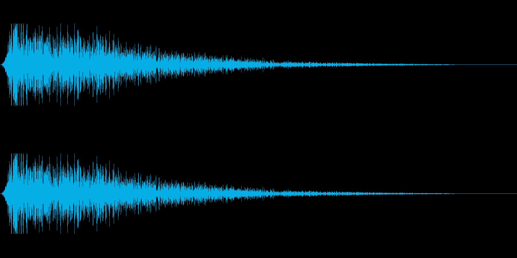 ホラーな演出に 8の再生済みの波形