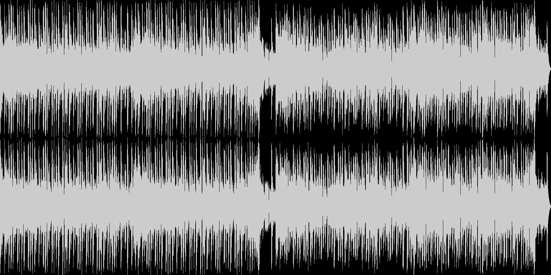 和のテイストを用いたループBGMの未再生の波形