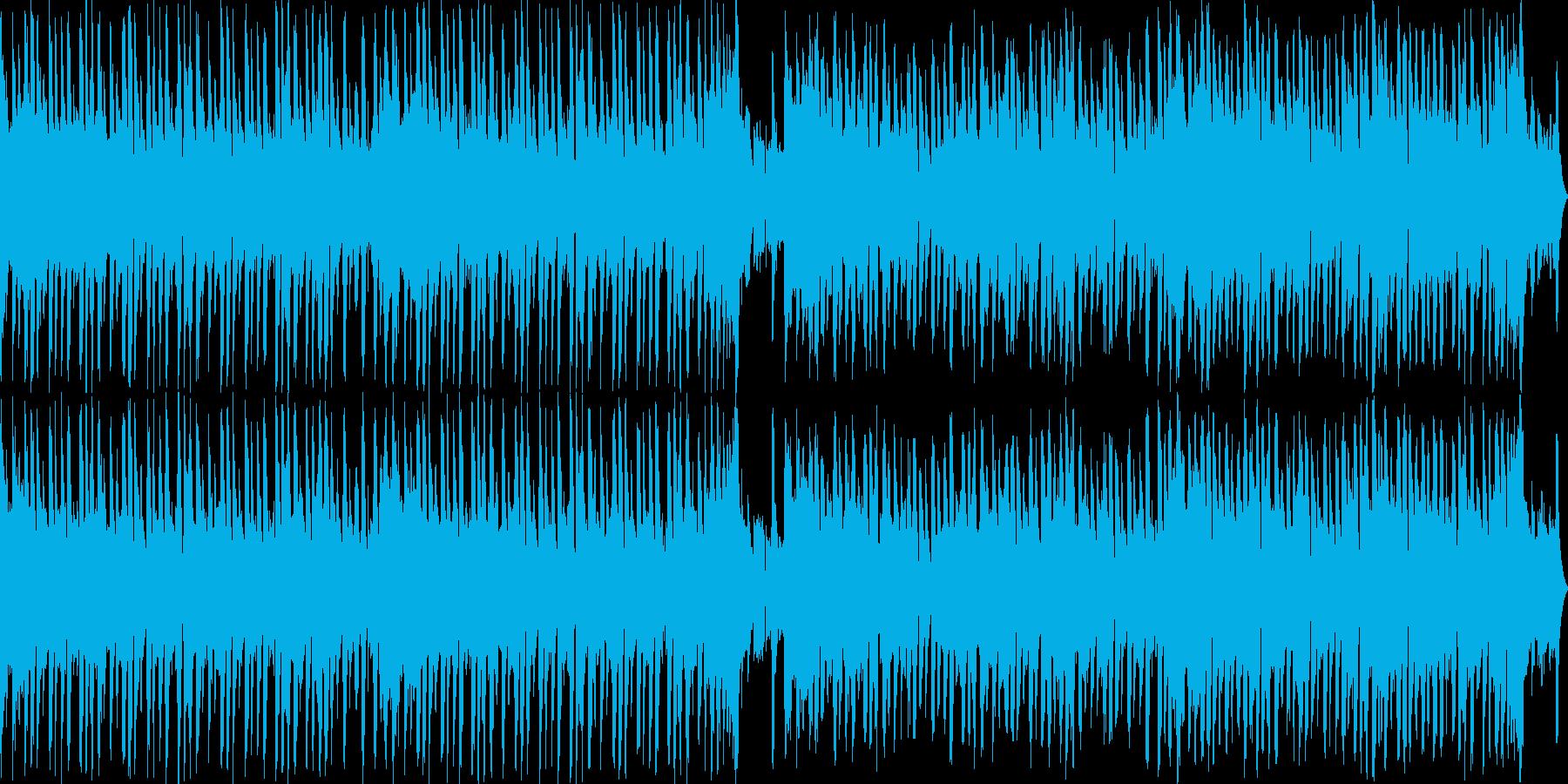 和のテイストを用いたループBGMの再生済みの波形